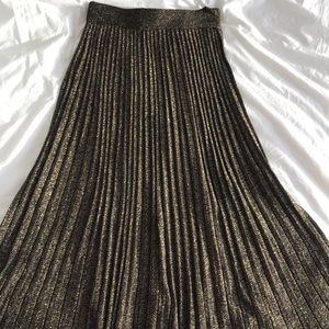 Club Monaco Metallic Knit Skirt